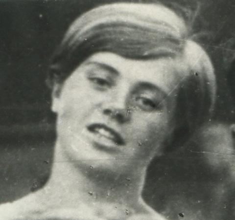 Крупно с общей фотографии спортивной команды Института советской кооперативной торговли. 1939 год.