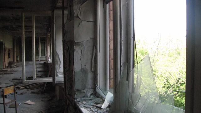 Историческое здание московской школы №201 имени Зои и Александра Космодемьянских. Вид третьего этажа. 2011 год.