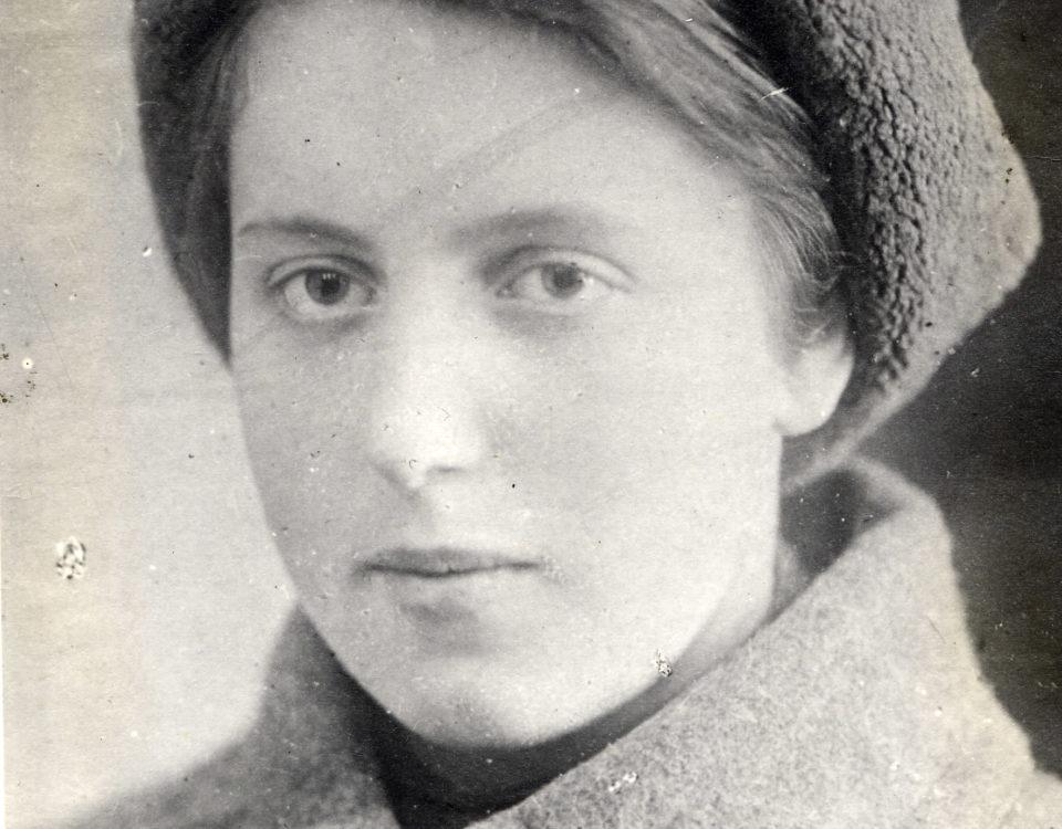 Паншина Маргарита Михайорвна (урожд. Каравай). Конец 1941 года.