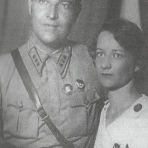 Артур Спрогис и Елизвета Паршина - переводчица в отряде испанских партизан. 1936-37 гг